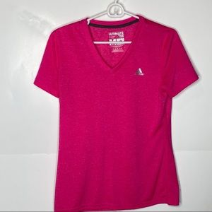 Adidas ultimate v neck work out tee t shirt M